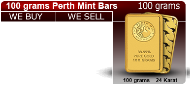 100g Gold Perth Bar